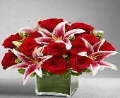 Red Rose and Lily Cube