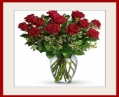 RED ROSES ARRD IN A VASE OR BOX in Knoxville TN, Crouch Florist