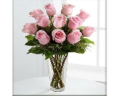 PINK ROSES ARRD IN VASE, BOX OR CELLO in Knoxville TN, Crouch Florist