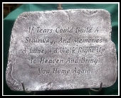 Sympathy Plaque With Easel in Sterling Heights, Michigan, Victoria's Garden