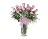 PINK DOZEN ROSES ARRANGED in Gainesville, Florida, Floral Expressions Florist