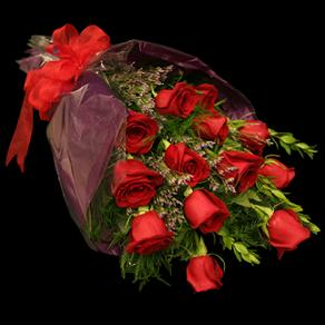Presentation bouquet of 1 dozen roses in Chapel Hill NC, Floral Expressions and Gifts