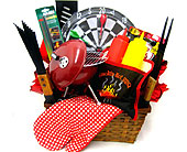 GB320  �Smokin Hot BBQ� Men�s Gift Basket in Oklahoma City OK, Array of Flowers & Gifts