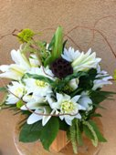 Simply Green and White in Tustin CA, Saddleback Flower Shop