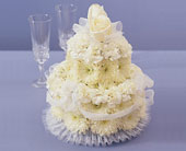 Wedding Flower Cake in Fairfax, Virginia, Greensleeves Florist