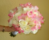Pink Dendrobium and White Rose Bouquet in Campbell, California, Jeannettes Flowers