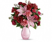 Teleflora's Roses and Pearls Bouquet in Chicago IL, Ambassador Floral Co.