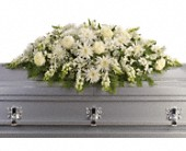 Enduring Light Casket Spray in Grand Rapids MN, Shaw Florists
