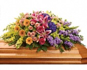 Garden of Sweet Memories Casket Spray in Dallas TX, In Bloom Flowers, Gifts and More
