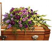 Reflections of Gratitude Casket Spray in Dallas TX, In Bloom Flowers, Gifts and More