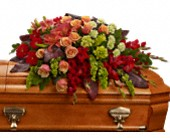 A Fond Farewell Casket Spray in Greenwood IN, The Flower Market