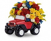 Jeep Wrangler King Of The Road by Teleflora in Hayward CA, The House Of Flowers