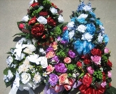 Silk flowers for mausoleums