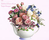 Rose of Love teapot in New Britain CT, Weber's Nursery & Florist, Inc.