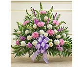 Lavender and White Sympathy Floor Basket in Jersey City NJ, Hudson Florist