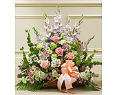 Pastel Mixed Flower Fireside Basket in Jersey City NJ, Hudson Florist