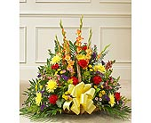Multicolor Bright Mixed Flower Fireside Basket in Jersey City NJ, Hudson Florist