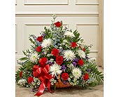 Red, White, and Blue Mixed Fireside Basket in Jersey City NJ, Hudson Florist