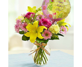 Bouquet and Balloon for Mom-Medium in El Cajon CA, Conroy's Flowers