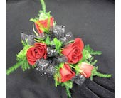 5 Red Sweetheart Rose Wristlet Corsage in Wichita KS, Tillie's Flower Shop