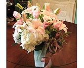 Pink and White Delight in Covington LA, Florist Of Covington