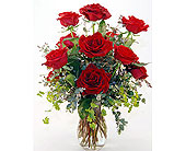 Dozen-Red-Roses in San Clemente CA, Beach City Florist