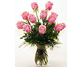 Flowers Depot  A-Tickled-Pink-Dozen in San Clemente CA, Beach City Florist