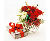 Christmas-Elegance-with-Medium-Box-of-Chocolates in San Clemente CA, Beach City Florist