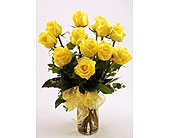 Get-Shorty-Yellow-Dozen in San Clemente CA, Beach City Florist