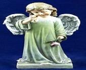 Angel Holding Rose in Indianapolis, Indiana, Madison Avenue Flower Shop