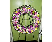 Sympathy-Wreath in Raleigh NC, Gingerbread House Florist - Raleigh NC