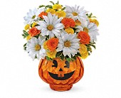 Happy Halloween by Teleflora in Redwood City CA, A Bed of Flowers