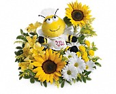 Teleflora's Bee Well Bouquet in Burlington WI, gia bella Flowers and Gifts