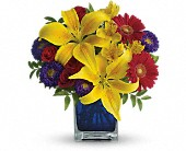 Teleflora's Blue Caribbean in South Hadley MA, Carey's Flowers, Inc.