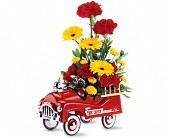 Teleflora's Fire Engine Bouquet in New York NY, ManhattanFlorist.com