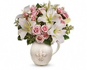Teleflora's Fleur-de-Love Bouquet in Burlington WI, gia bella Flowers and Gifts