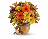 Teleflora's Send a Hug Fetching Fall Bouquet in Mississauga ON, Mums Flowers