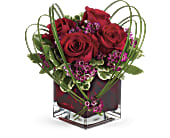 Teleflora's Sweet Thoughts Bouquet with Red Roses in Burnaby BC, Lotus Flower & Terra Plants