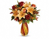 Teleflora's Treasures of Fall Bouquet in Edmonton AB, Petals For Less Ltd.