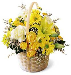 Flourishing Garden Basket in Nationwide MI, Wesley Berry Florist, Inc.