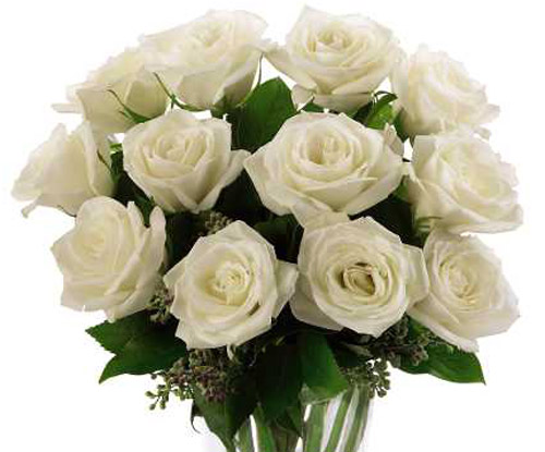 FTD� White Rose Bouquet in Nationwide MI, Wesley Berry Florist, Inc.