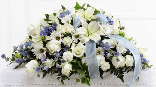 FTD� Tender Treasure� Casket Spray in Nationwide MI, Wesley Berry Florist, Inc.