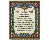 Throw - Sister (Stained Glass) in Bellville OH, Bellville Flowers & Gifts