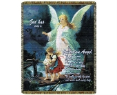 Throw - Guardian Angel Direct Thy Path in Bellville OH, Bellville Flowers & Gifts