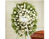 Deepest Sympathies Standing Spray - White dans Watertown CT, Agnew Florist