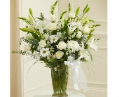 Beautiful Blessings Vase Arrangement - White dans Watertown CT, Agnew Florist