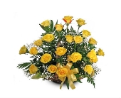 Yellow Rose Fireside Basket in Springfield, Missouri, House of Flowers Inc.