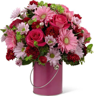 Color Your Day With Happiness Bouquet in Nationwide MI, Wesley Berry Florist, Inc.