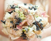 Muted Fall Bridal Bouquet in Knoxville, Tennessee, The Flower Pot