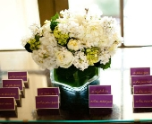 Place Card Table Arrangement in Knoxville, Tennessee, The Flower Pot